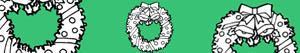 ausmalbilder Weihnachts kränze und girlande malvorlagen