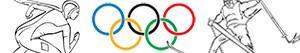 ausmalbilder Olympische Winterspiele malvorlagen