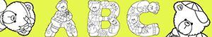 ausmalbilder Buchstaben mit Bären malvorlagen